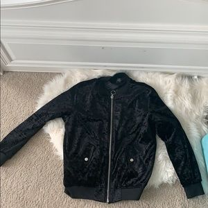A forever 21 velvet zip up jacket